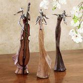 Musical Interlude Sculpture Set Multi Earth Set of Three