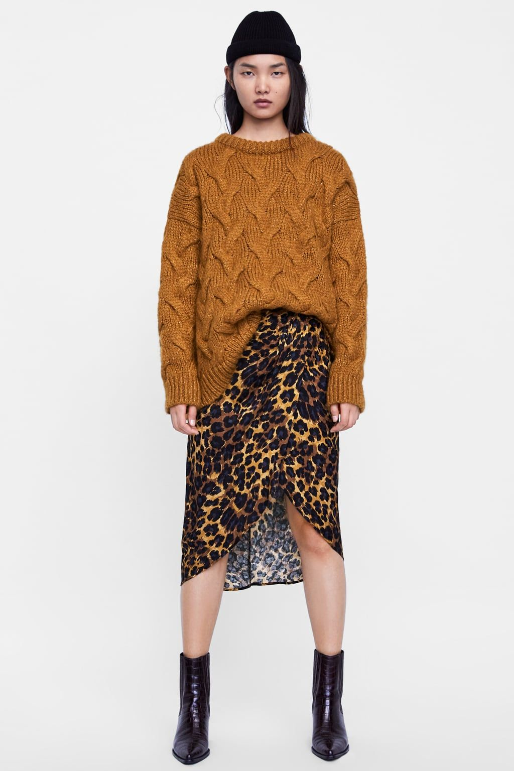 abba841d4f FALDA ESTAMPADO ANIMAL in 2019 | Outfits | Animal print skirt ...