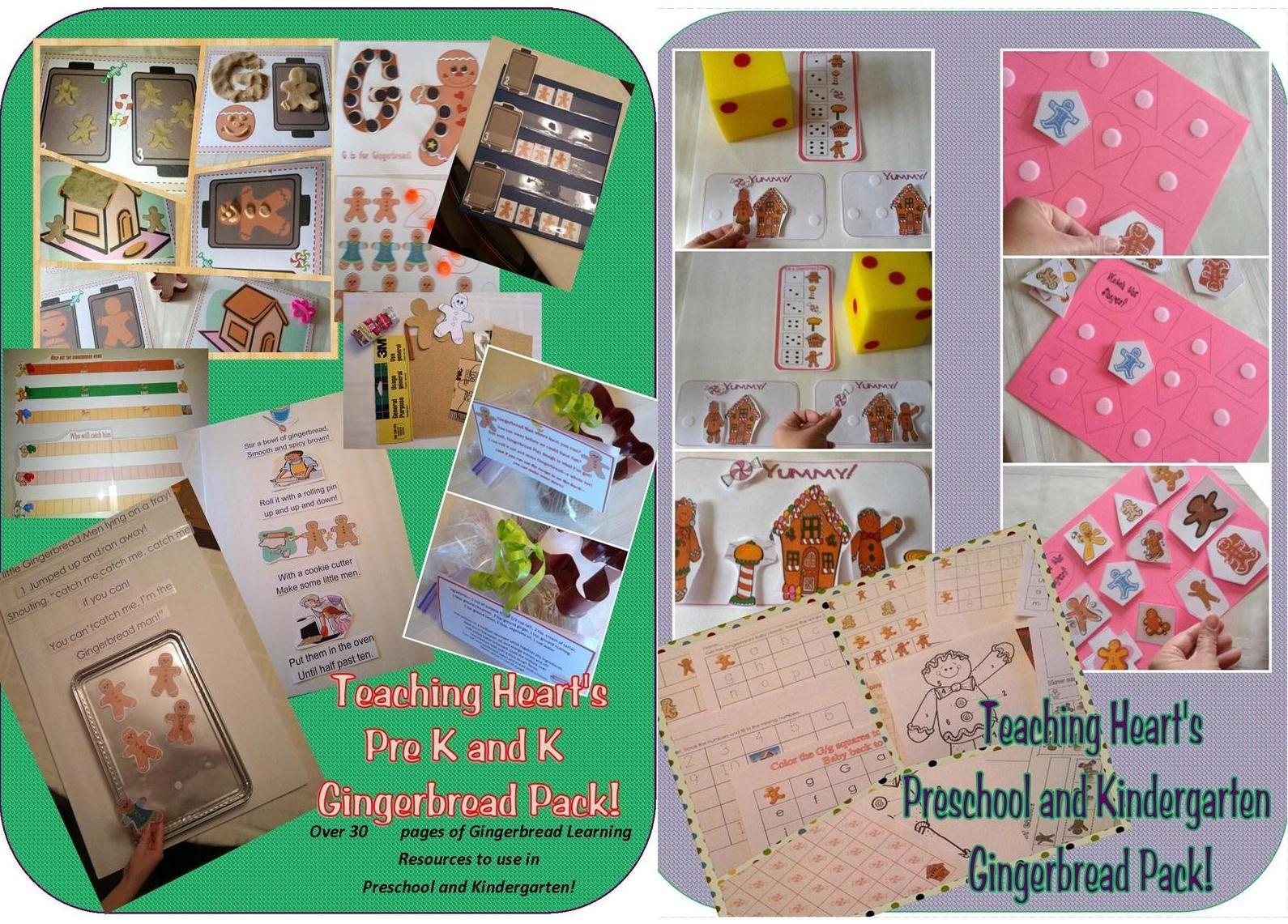 Teaching Heart S Pre K Amp K Gingerbread Pack Not Free
