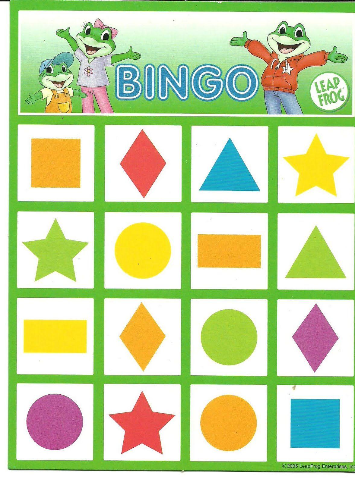 Bingo Formas Met Afbeeldingen