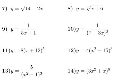 The Chain Rule Chain Rule Worksheets Math Worksheets