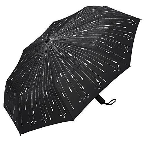 da1828129a75 Plemo Windproof Travel Portable Automatic Umbrellas Black with ...