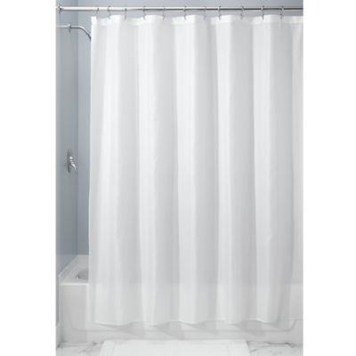 Interdesign 108 X 72 Carlton Fabric Shower Curtain In White