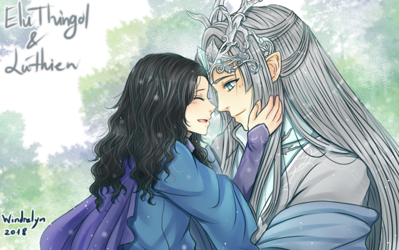 Father and Daughter by Windrelyn (Thingol and Lúthien)   lord of the