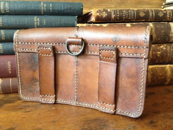 Vintage 1947 French Ammo Pouch Woody Brown от JansVintageStuff