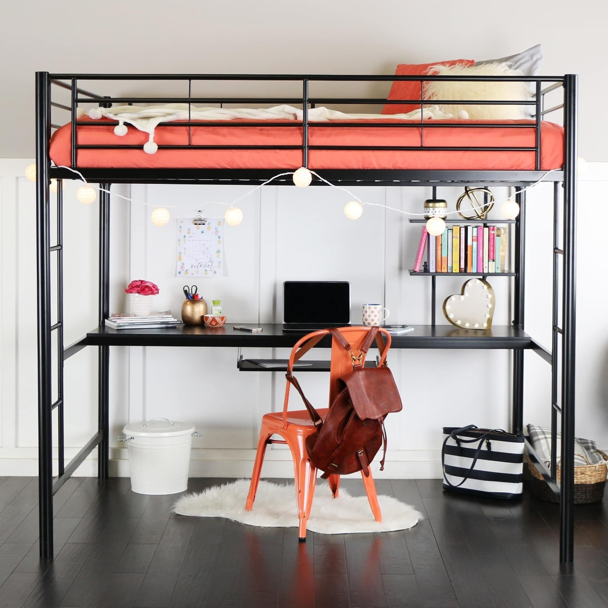 Taylor & Olive Abner Black Metal Full Size Loft Bed with