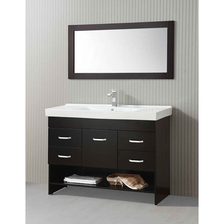 Ica furniture natalia inch espresso brown modern bathroom
