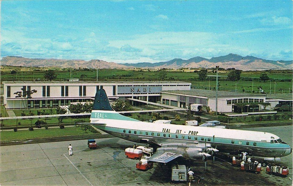 TEAL Lockheed Electra in Fiji 1960s | Aviation | Civil