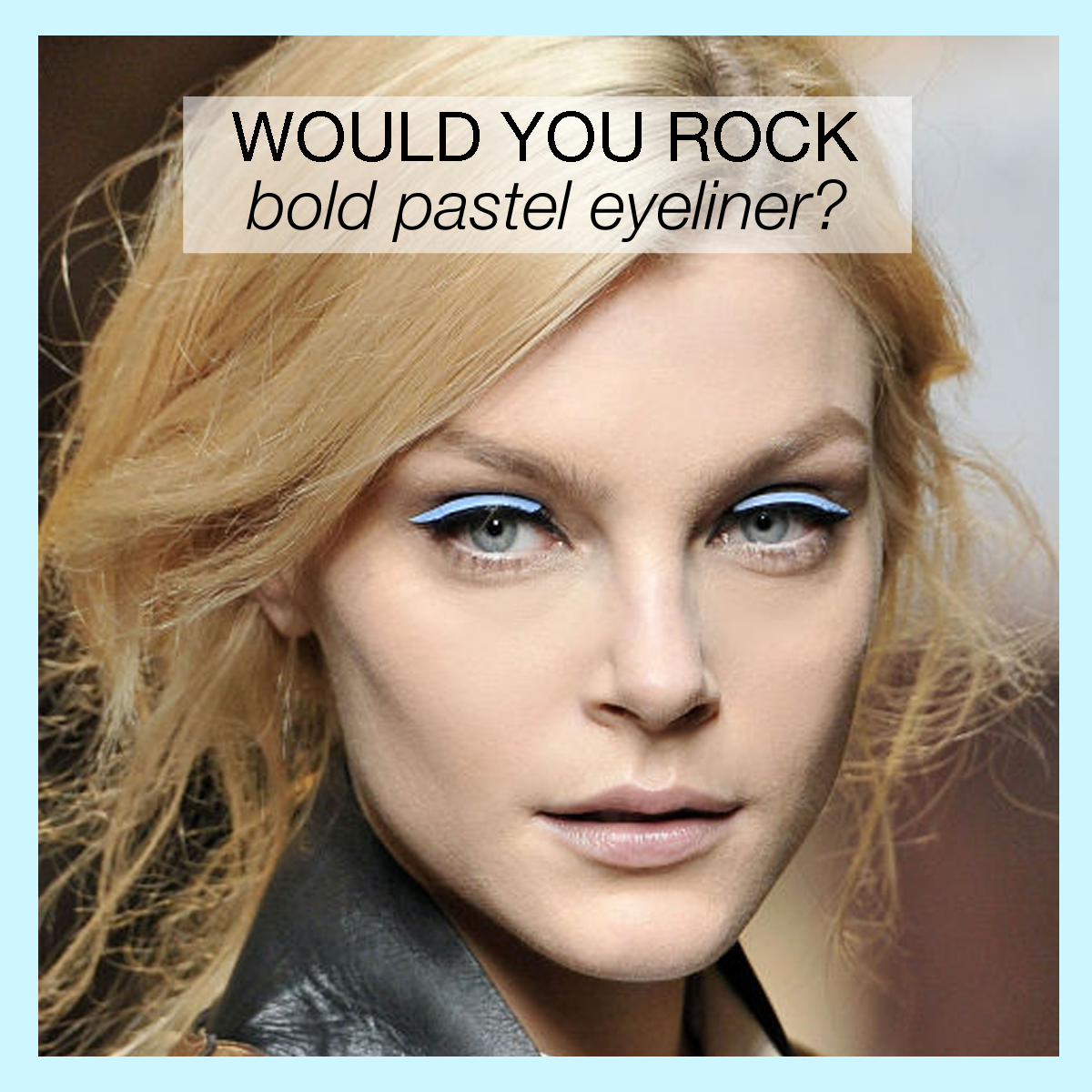 Would you rock bold, ‪#‎PopArt‬ eyeliner as seen on the #Fendi ‪#‎runway‬? ‪#‎TrendTuesday‬ (Image via http://bit.ly/1H1AceQ)