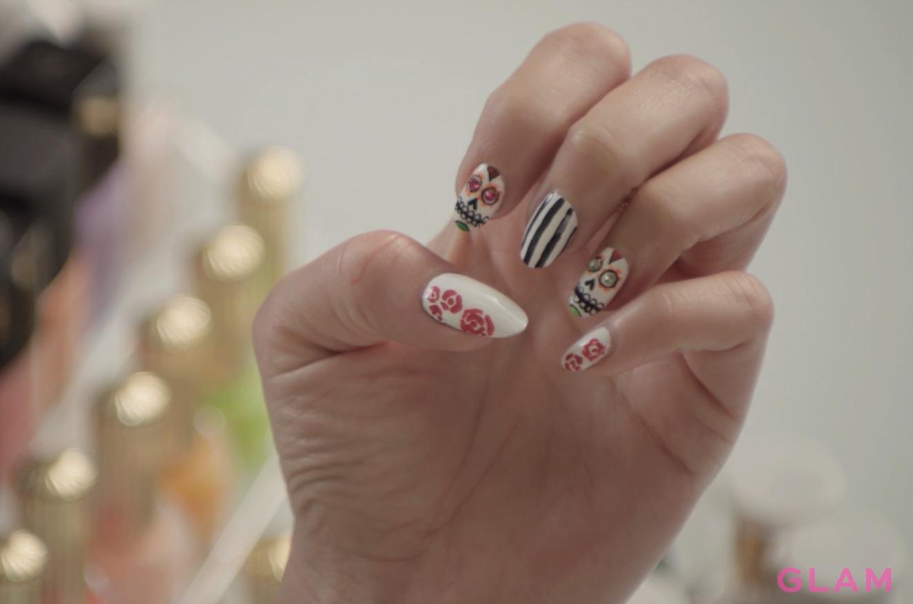 Dia De Los Muertos manicure tutorial | Haute Halloween | Pinterest ...