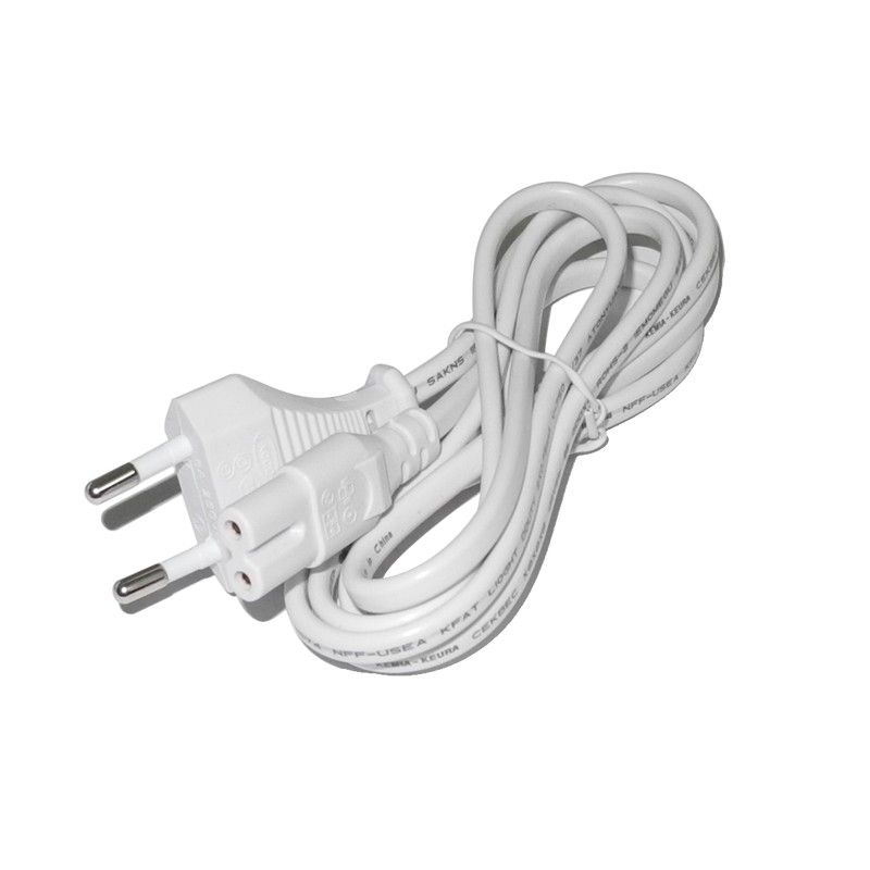 High Quality EU Plug White Color 8 Type connector AC Cable Power ...