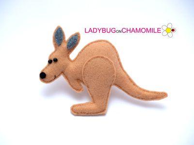 Australian animals for kids , Aussie animals, Australian animals felt , felt magnets - FeltTOYS