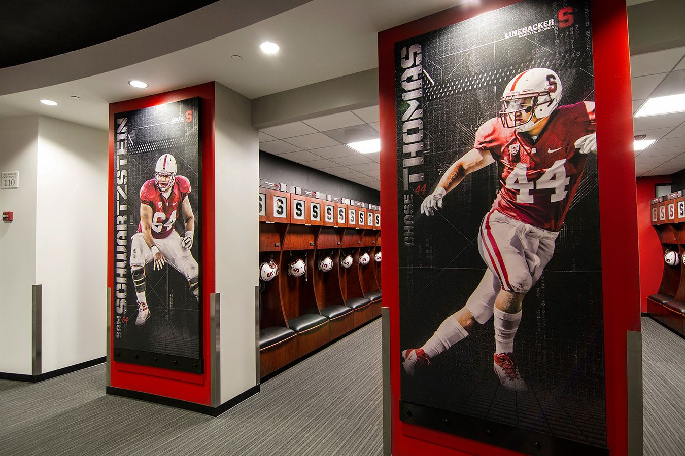 Stanford Football Offices And Locker Room Advent Locker Room Stanford Football Lockers