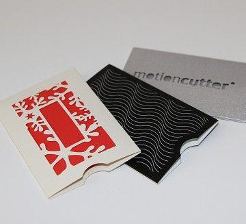 Visitenkarten Schuber Produziert Mit Dem Motioncutter Von