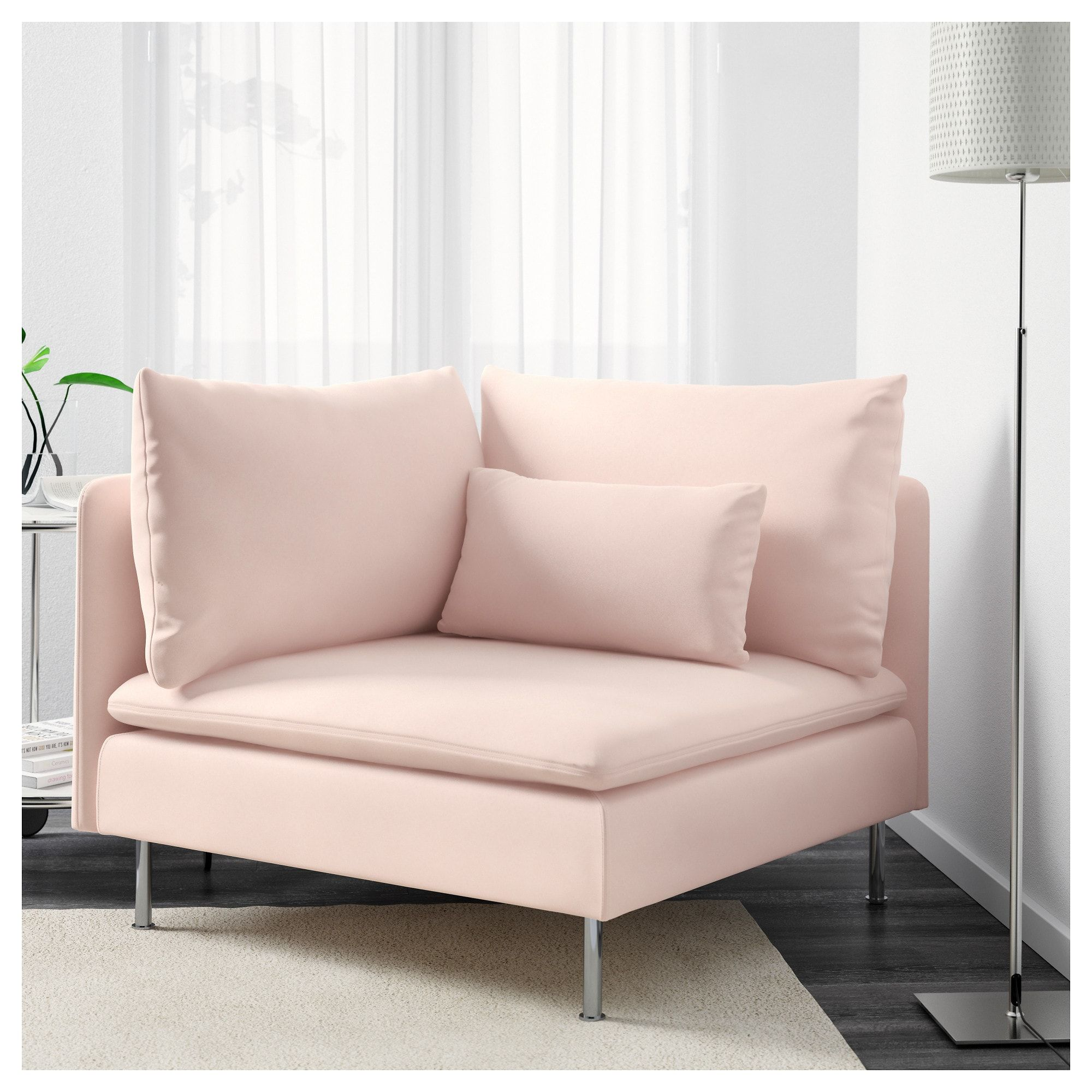 Soderhamn Corner Section Samsta Light Pink Pink Couch Sofa Uk Living Room Seating