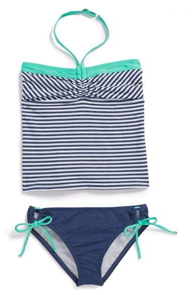 Splendid 'Blues Too' Bandini Two-Piece Swimsuit (Big Girls) available at #Nordstrom