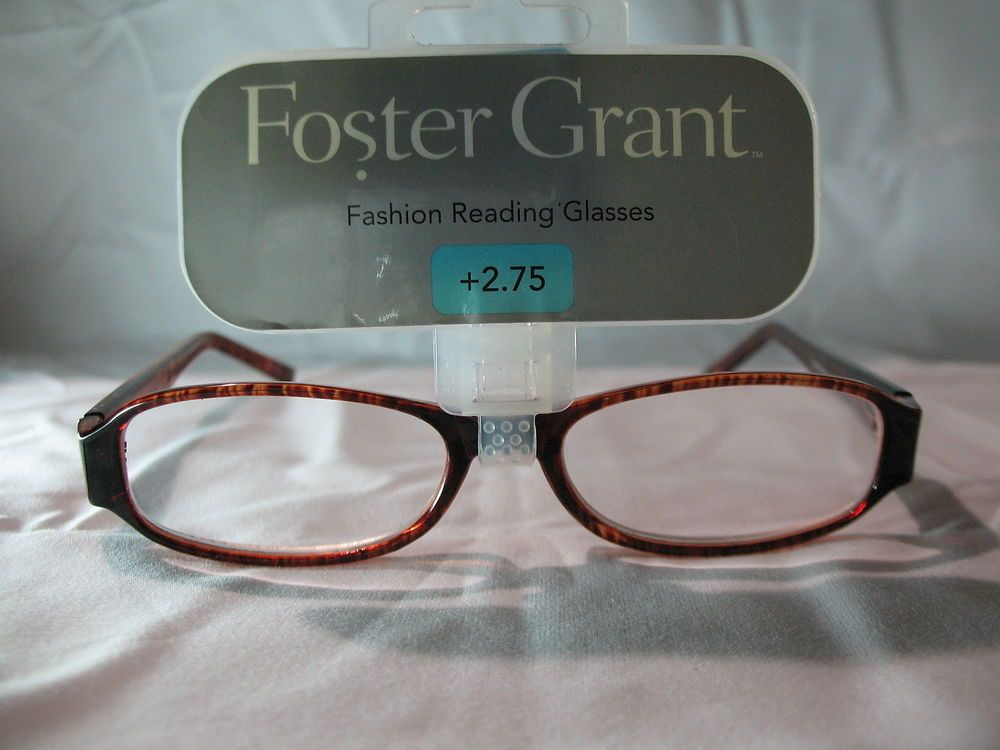 627ebb370f Foster Grant Womens Brown Tortoise Fashion Reading Glasses 1.25 1.75 2.25  2.75  FosterGrant