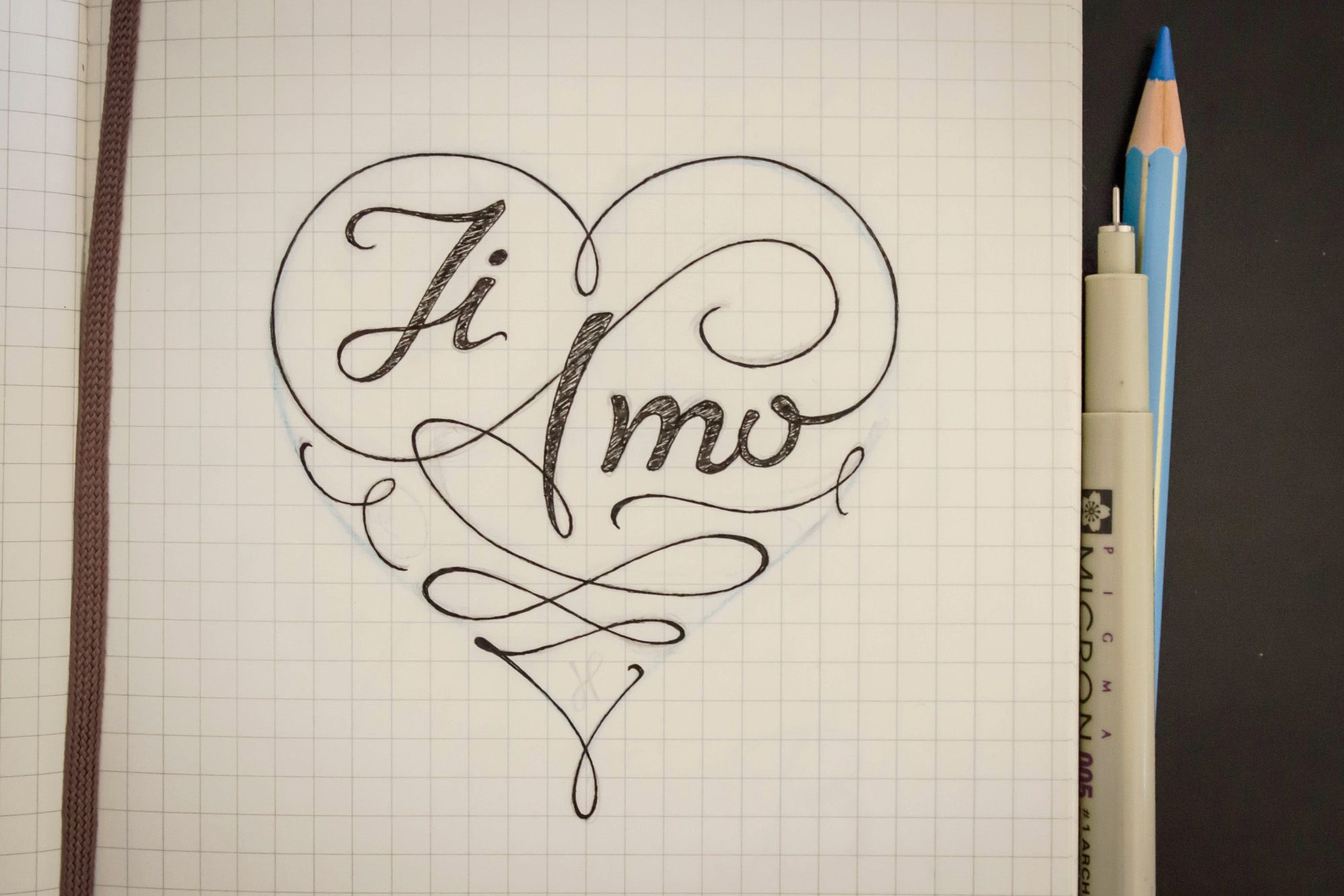 Ti Amo By Gershom Charig Sketch Idee Album Foto Fai Da Te