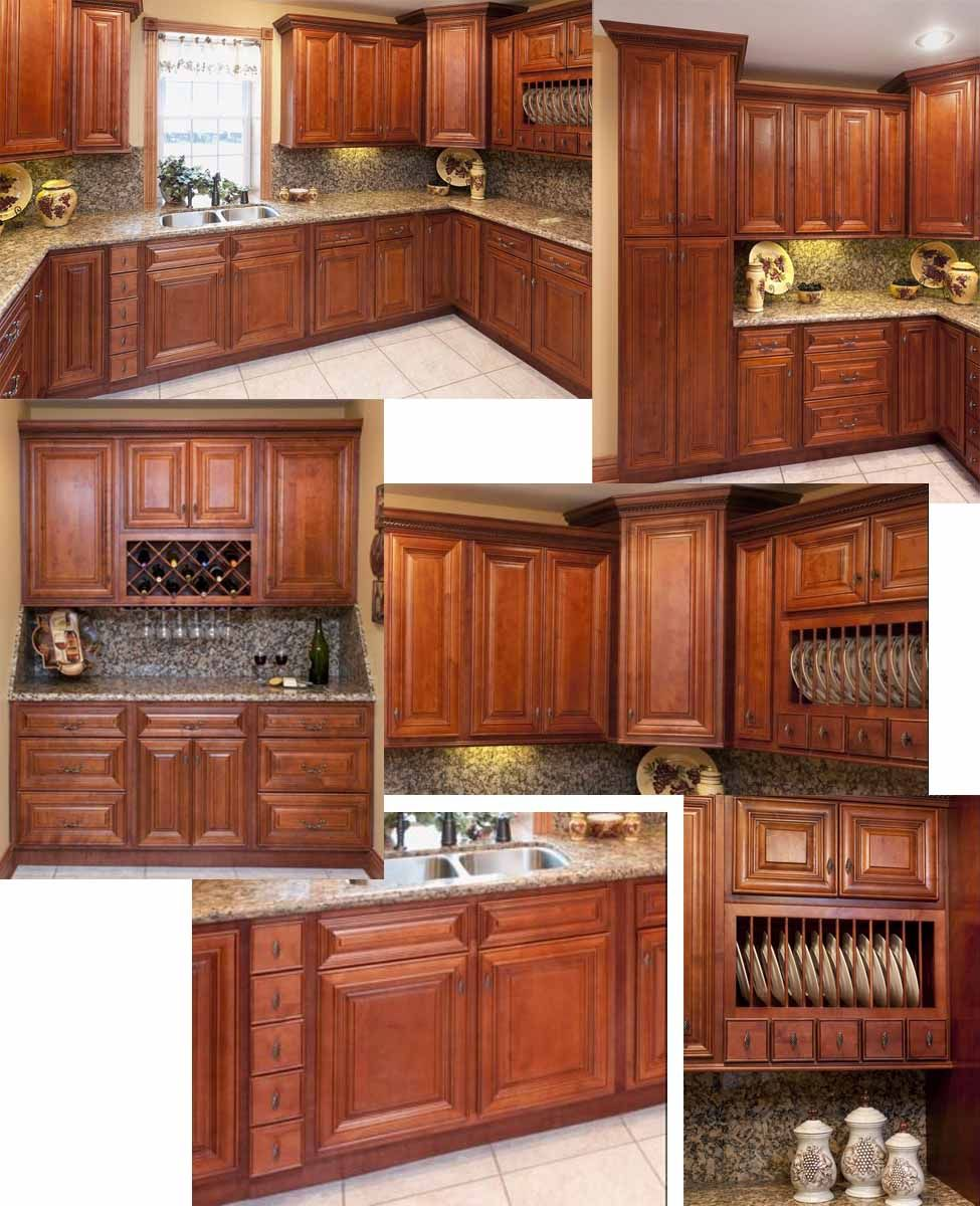Home depot kitchen cabinets cherry dark glaze for Home kitchen remodeling