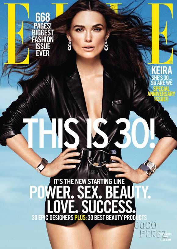 Keira Knightley gets four Elle covers.