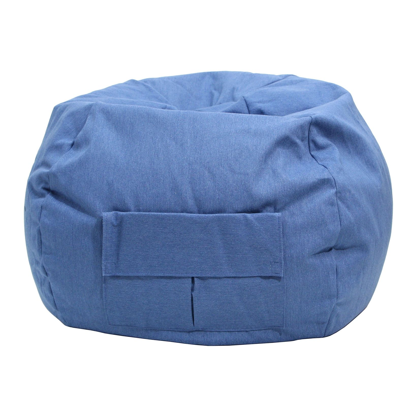 Extra Large Bean Bag Chairs Gold Medal Cargo Pocket Blue Denim Look Extra Large Bean