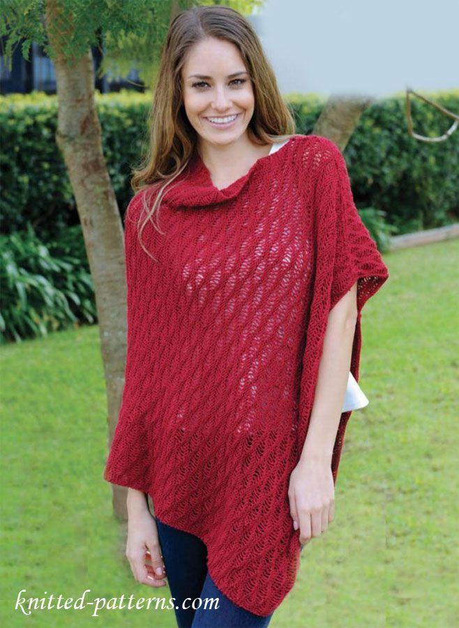 Asymmetric poncho knitting pattern free   Fiber Fest   Pinterest ...