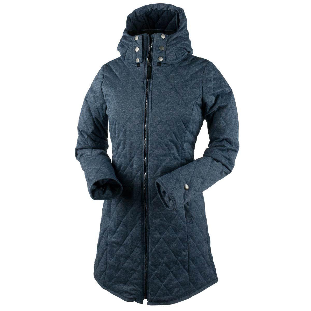 Obermeyer Womens Desi Long Insulator Storm Cloud Small Obermeyer Ski Wear Jackets Women Fall Outfits
