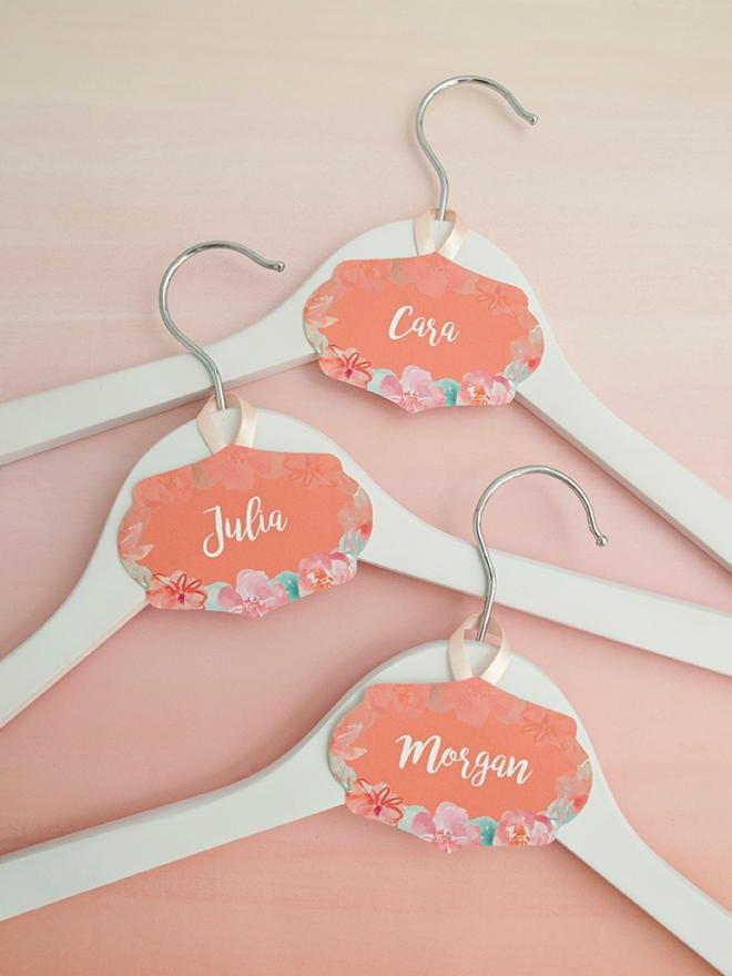 Wedding Hanger Printable Name Tags Wedding hangers Hanger and