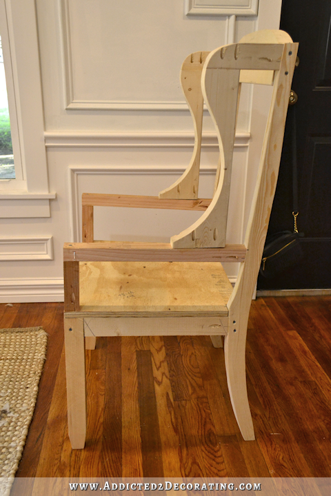 DIY Wingback Dining Chair How To Build The Chair Frame Armchairs An And