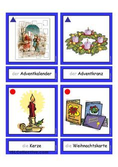 flashcards weihnachten 1 daz deutsche weihnachten. Black Bedroom Furniture Sets. Home Design Ideas