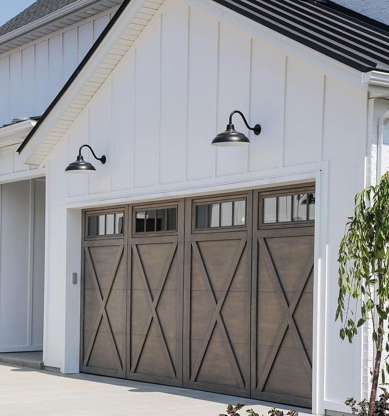 Scout And Nimble Beautiful Garage Doors On This Home Built By Magleby Construction Via Modern Farmhouse Exterior Farmhouse Exterior Colors Farmhouse Exterior