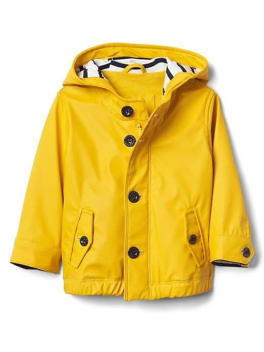 291ee6c02 Baby Gap Jersey Lined Raincoat