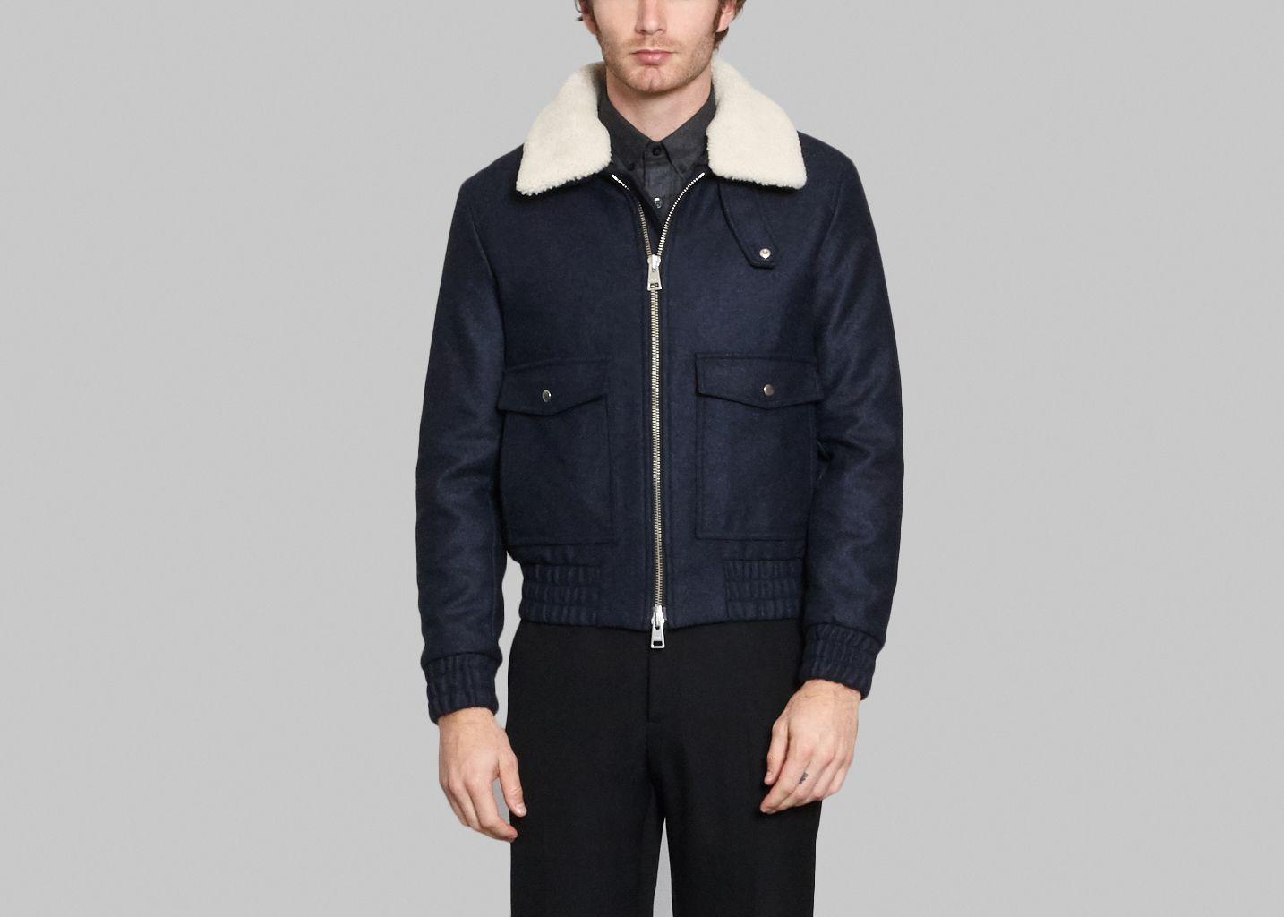 Man coat · Blouson Col Lainé - AMI Alexandre Mattiussi