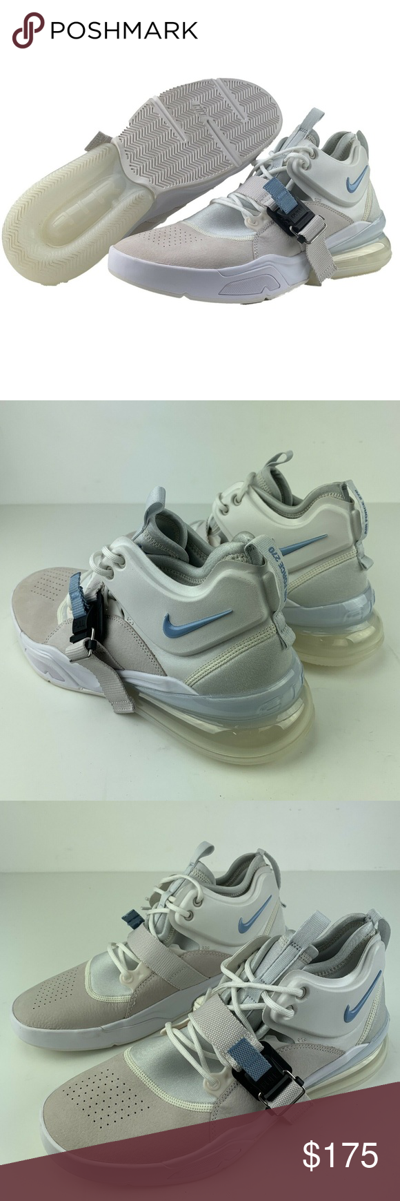 278553dffa1c18 Nike Air Force 270 Nike Air Force 270 Phantom White Leche Blue Basketball  Shoes Sneakers Brand New Shoes