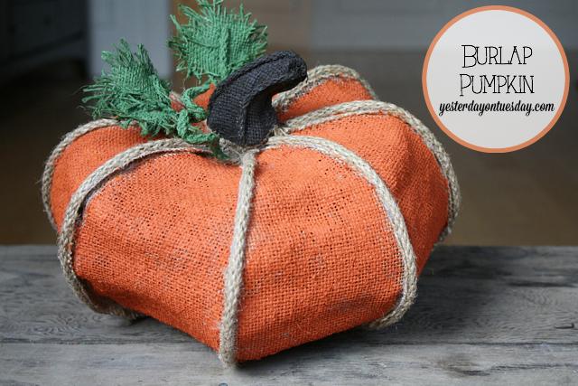 Burlap Pumpkin with materials from @craftsandframes #burlap #pumpkins