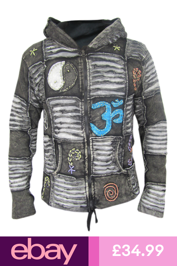 Men Jacket Ribs Psychedelic Gothic Om Fleece lined