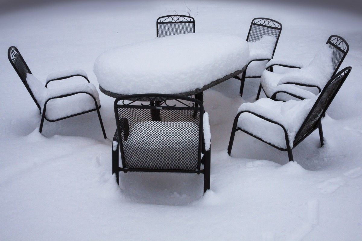 3 Ways To Protect Your Outdoor Patio Furniture In Winter 1 Place It In Storage This Is Th Patio Furniture Covers Outdoor Furniture Wooden Patio Furniture