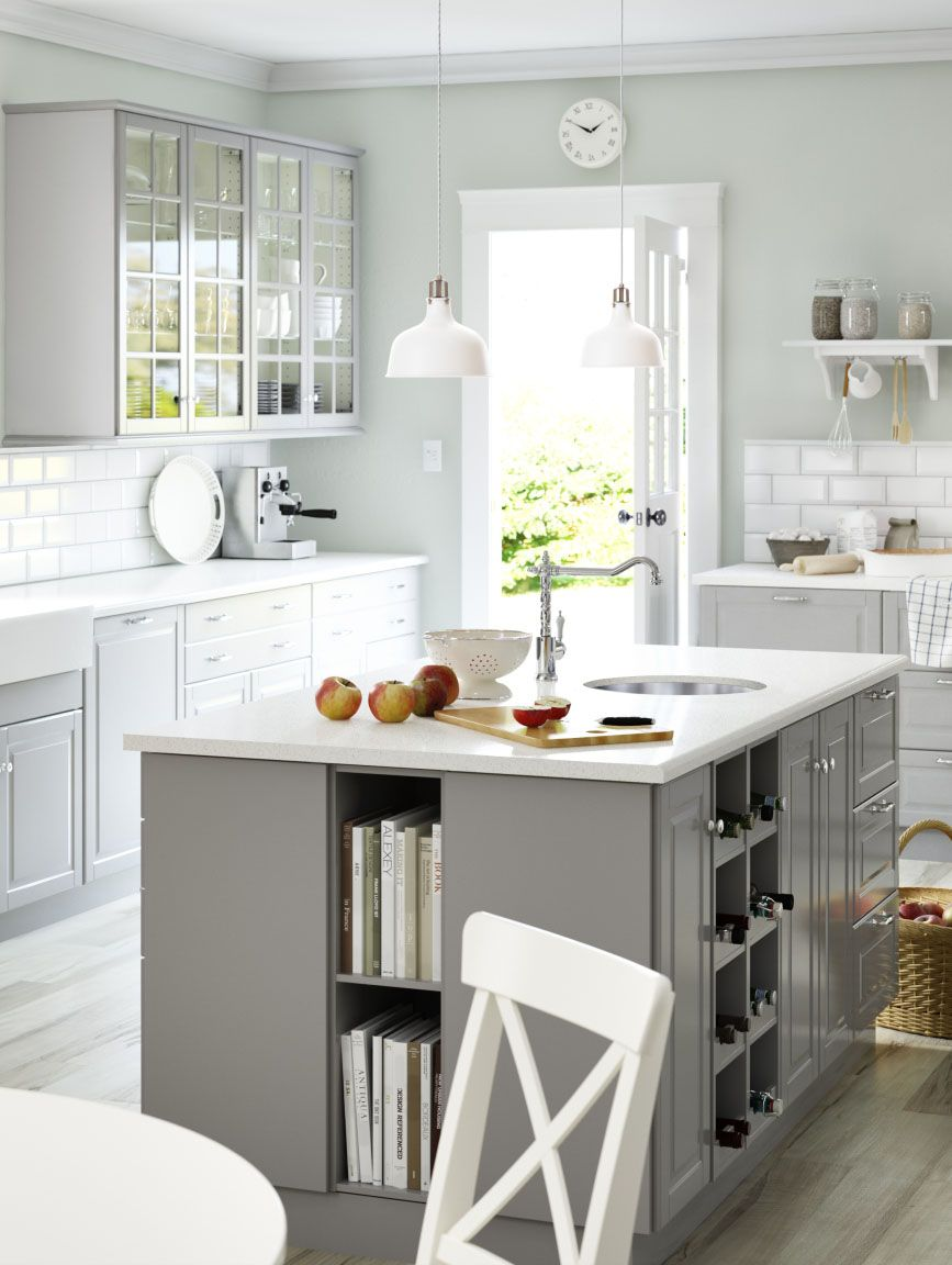 Ikea sektion kitchens give you the freedom to create your perfect kitchen whether you want storage in your kitchen island or stylish glass cabinet doors