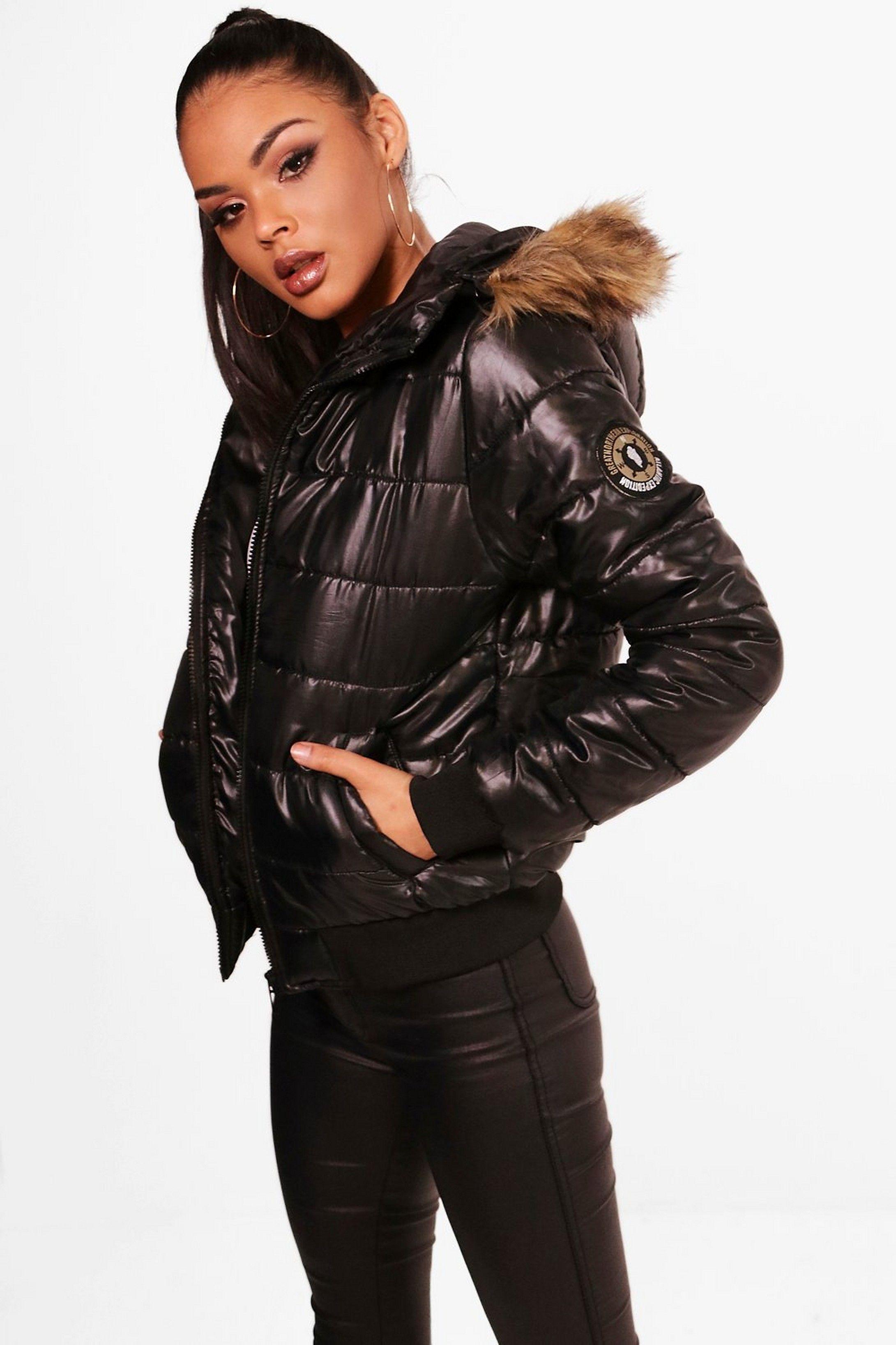 Faux Fur Hood Bubble Coat Boohoo Bubble Coat Faux Fur Hood Fur Hood [ 3272 x 2181 Pixel ]