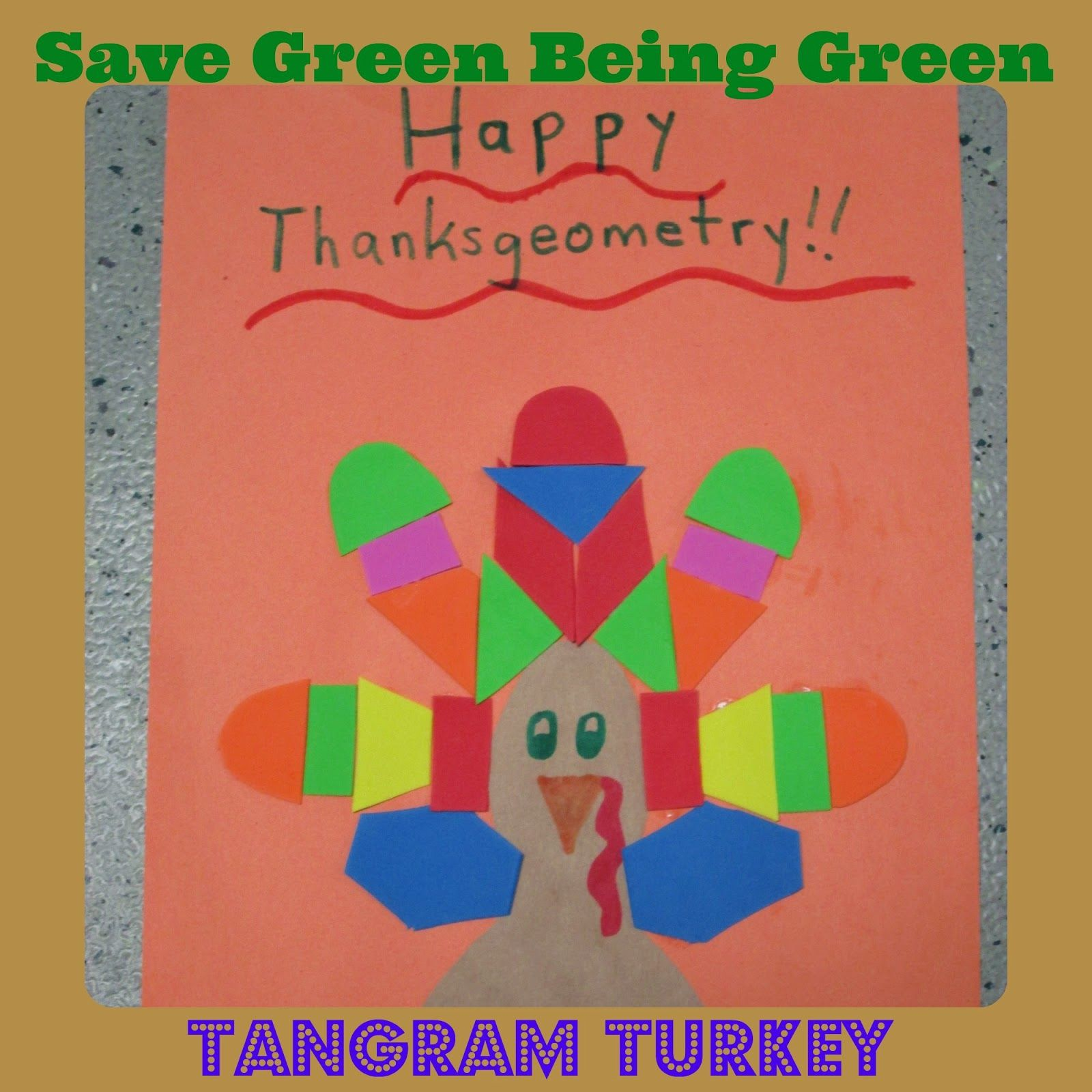 Happy Thanksgeometry With A Tangram Turkey