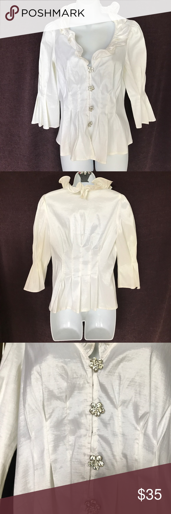 c8b28d7a6e66 Dressy Blouse Beautiful, off-white blouse, never worn, brand new condition. Chetta  B Tops Blouses