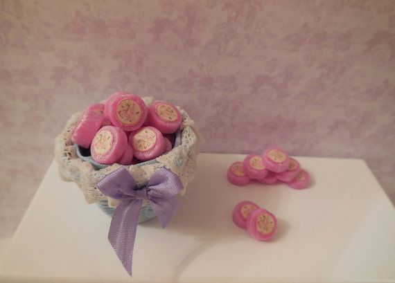 1: 12 DOLLHOUSE Purple soap pads wrapped with by SophiaMiniatures