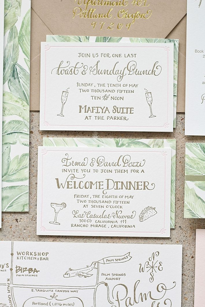 small wedding ceremony invitations%0A Wedding invitation and RSVP u    s for a destination wedding in Palm Springs   California