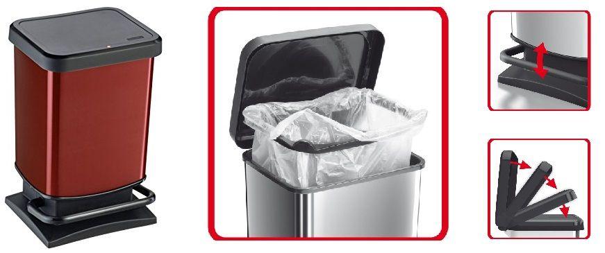 ¡Chollo! Cubo de basura ROTHO Paso de 20 litros hermético a olores por 16.66 euros.