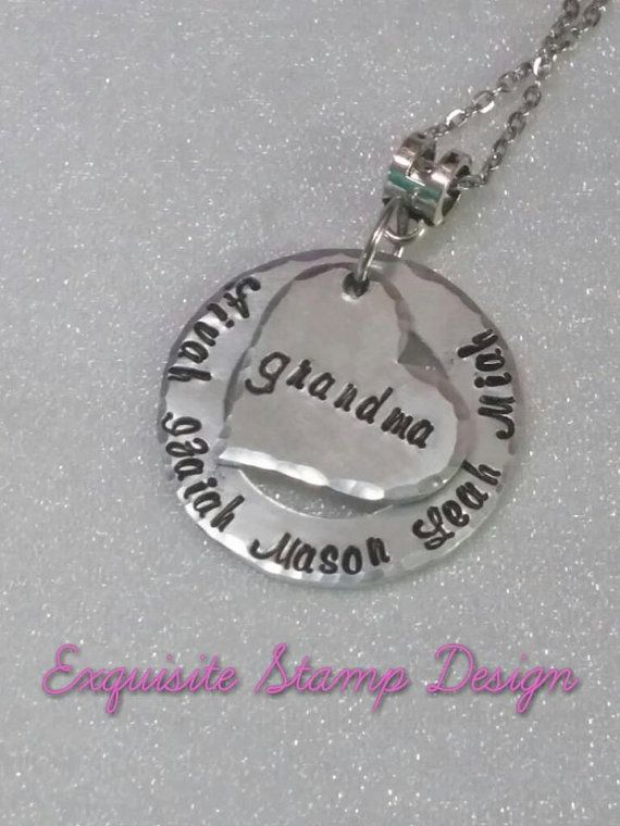 Personalized Name Necklace  Hand Stamped  by ExquisiteStampDesign