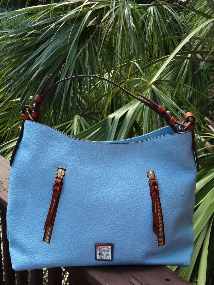 e77d730c3fefb7 Authentic Dooney & Bourke Caribbean Blue Pebbled Leather Cooper Hobo----NWT  #fashion #clothing #shoes #accessories #womensbagshandbags (ebay link)
