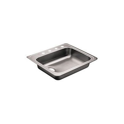 "Moen Commercial 25"" x 22"" Single Bowl Self-Rimming Kitchen Sink"