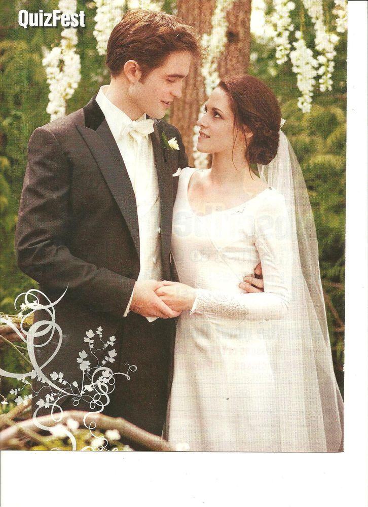 Twilight Kristen Stewart Robert Pattinson Full Page Pinup Breaking Dawn Hochzeit The Twilight Saga Bella Swan Brautkleid