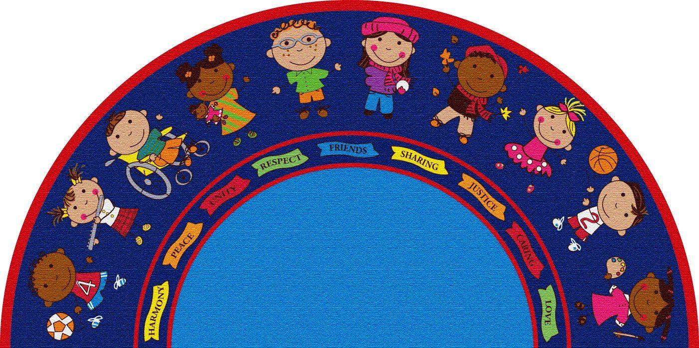 Friends semicircle rug classroom rug rugs area rugs