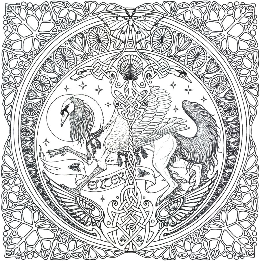 mucha coloring pages | mandala intro graphic wip by swandog scraps ...